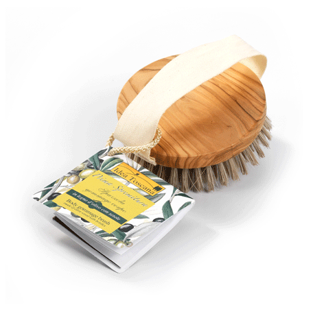 Natural Exfoliating Body Olive Wood Brush | Simply Naturale