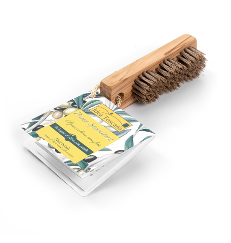 Natural Wooden Olive Nail Brush | Simply Naturale